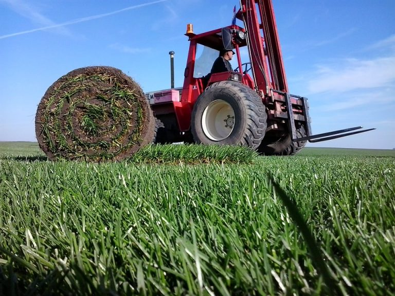 Carbutts turf roll and tractor